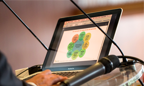 écran d'ordinateur speaker conférence odis-c